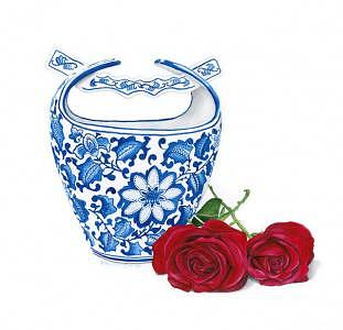Vase Painting - Vase And Roses by Patti Gettinger