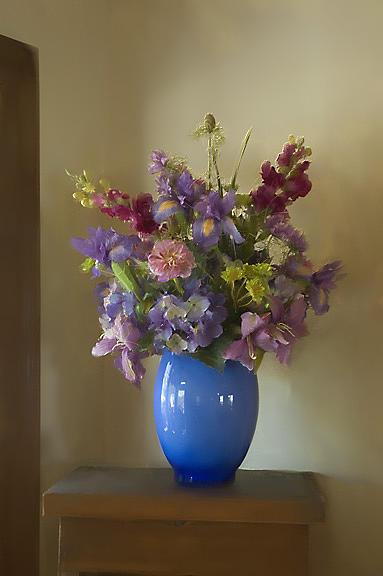 Vase At Toms Greenhouse Photograph by David Scott Leibowitz