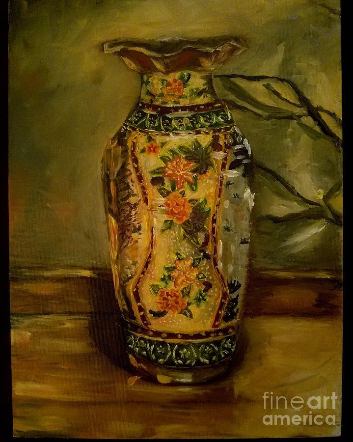 Vase Painting - Vase by Esmeralda Acupan