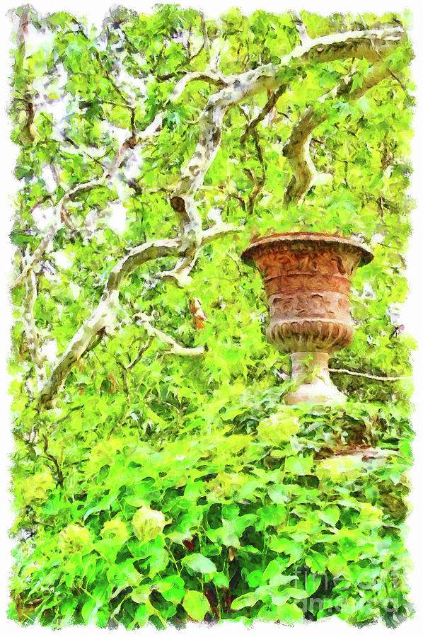 Lazio Digital Art - Vase In The Green by Giuseppe Cocco