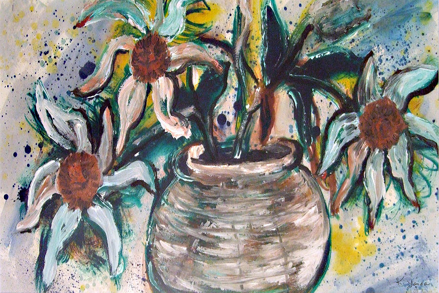 Vase of Daisies by Katt Yanda