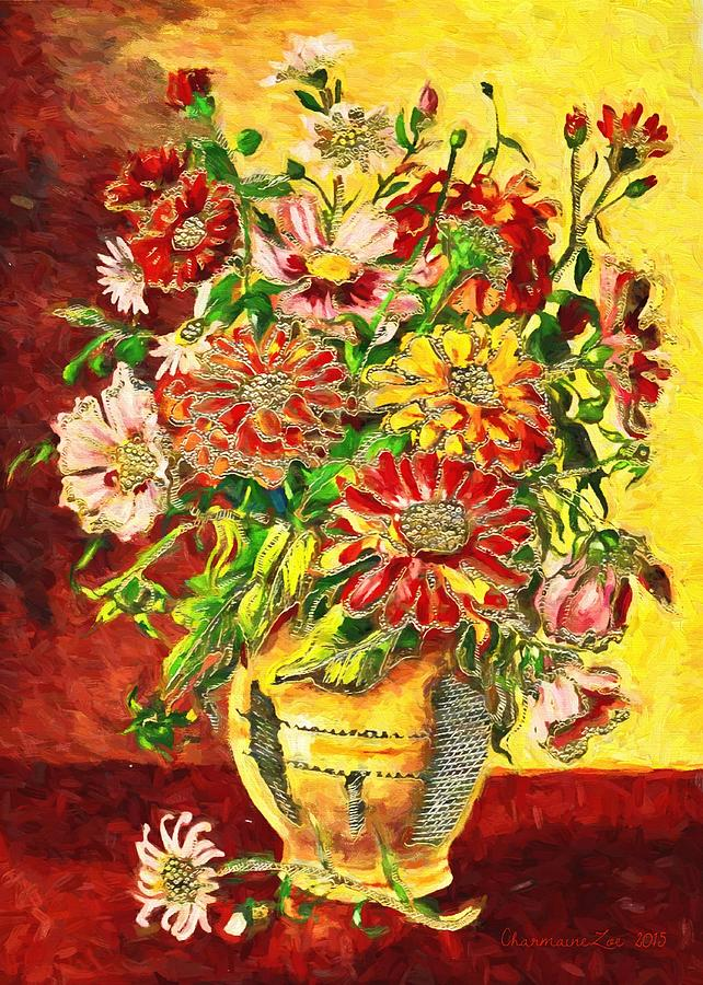 Vase of Flowers by Charmaine Zoe