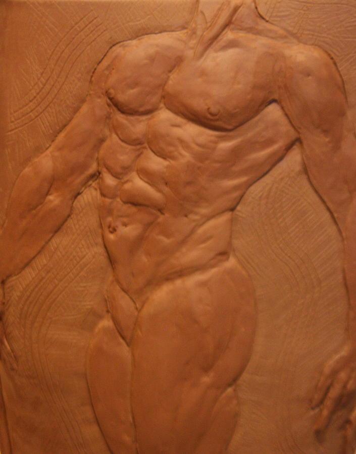 Male Nude Sculpture - Vase Series I by Dan Earle