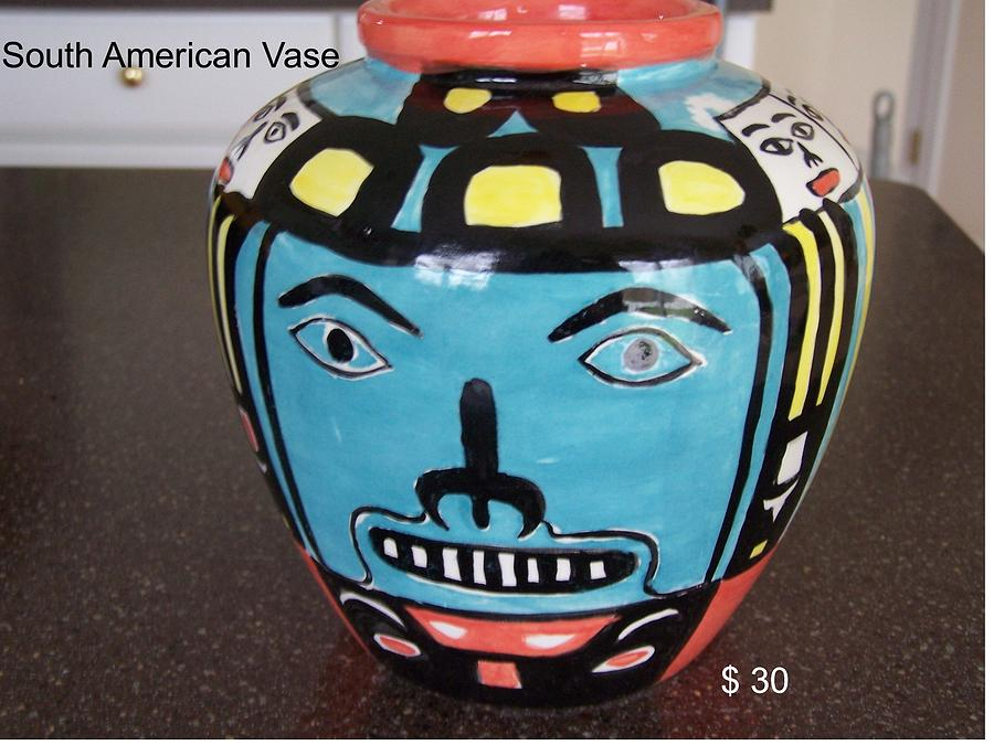 Ceramics Ceramic Art - Vase by Vijay Sharon Govender