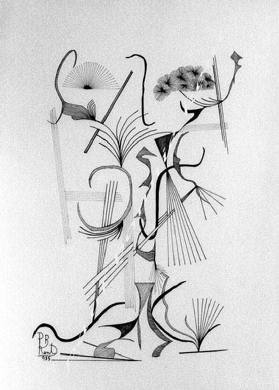 Flowers Drawing - Vase With  Apple And Grape by Paul Bonnie Kent