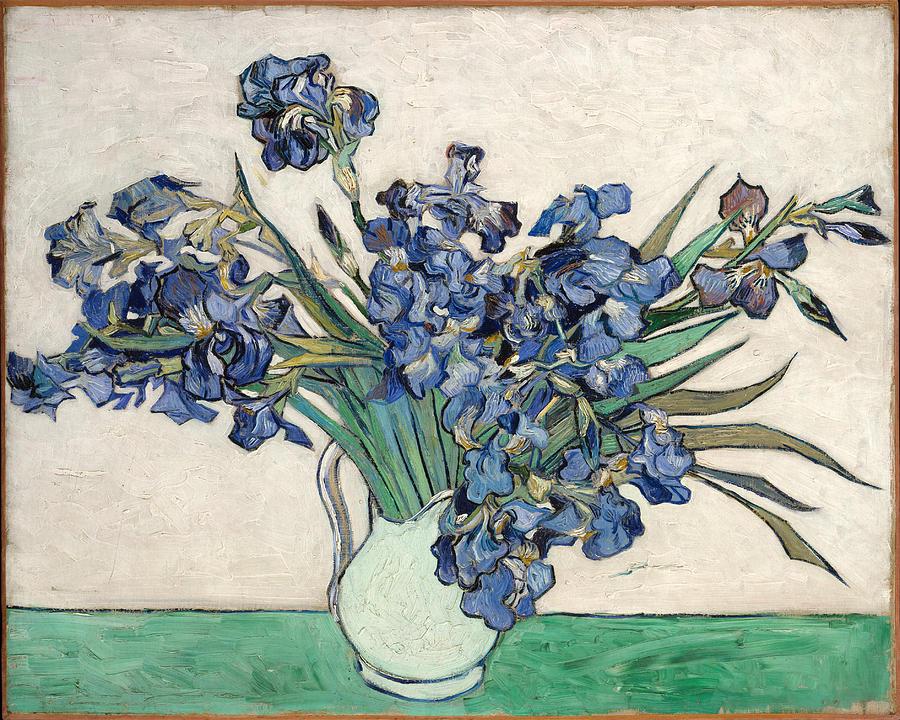 Van Gogh Painting - Vase With Irises by Van Gogh