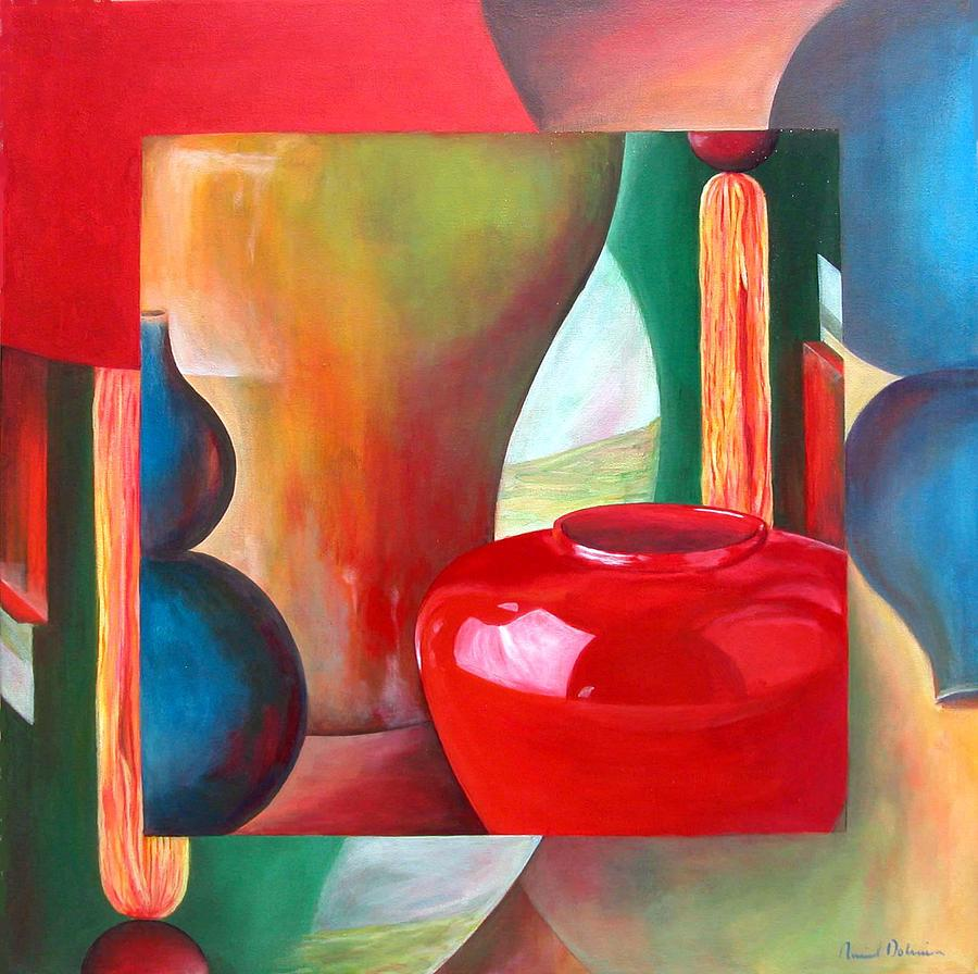 Still Life Painting - Vases by Muriel Dolemieux
