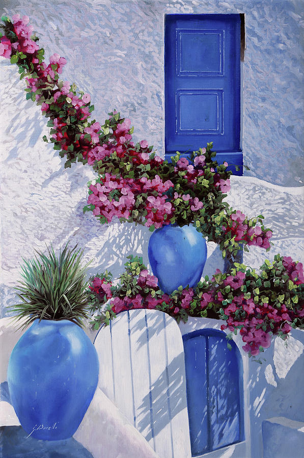 Blue Painting - Vasi Blu by Guido Borelli