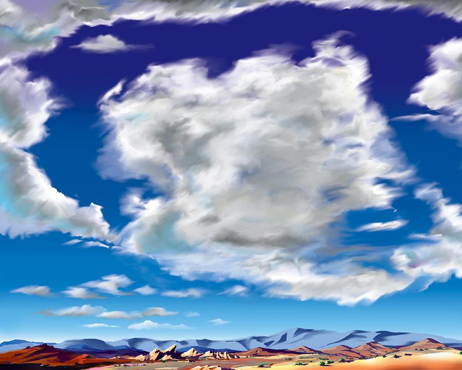 Vasquez Rocks Painting - Vasquez Cloud by Steve Beaumont