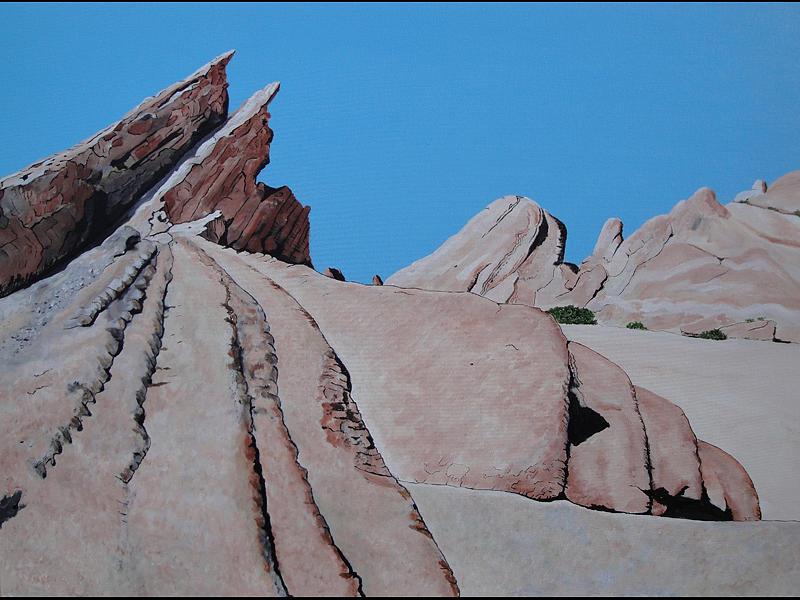 Rocks Painting - Vasquez Rocks 4 by Stephen Ponting