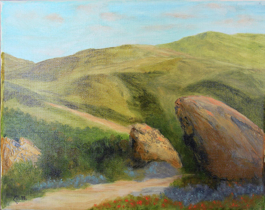 Vasquez Rocks Morning Painting by Terry Sonntag