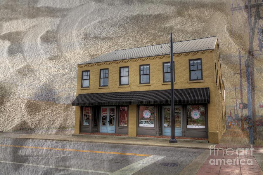Beige Photograph - Vasterling Building  by Larry Braun