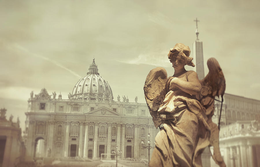 Italy Photograph - Vatican Angel by JAMART Photography