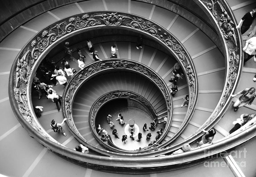 Vatican Museum Photograph - Vatican Bw by Stefano Senise