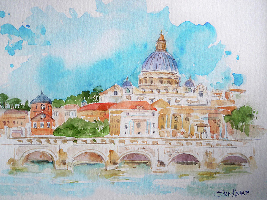 Vatican City Painting By Sue Kemp