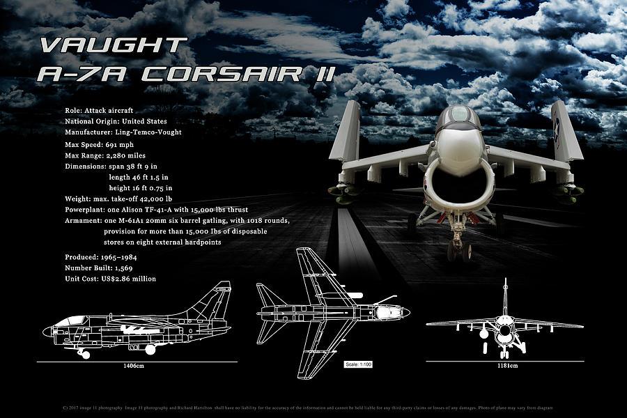 Military Memorabilia Photograph - Vaught A-7a Corsair II by Richard Hamilton