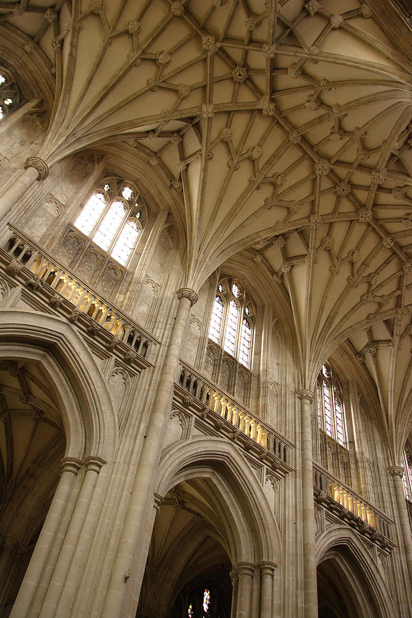 Winchester Cathedral Photograph - Vaulted Ceiling by Michael Hudson