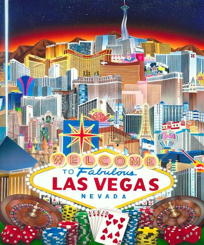 Las Vegas Painting - Vegapolis by Brett Sauce
