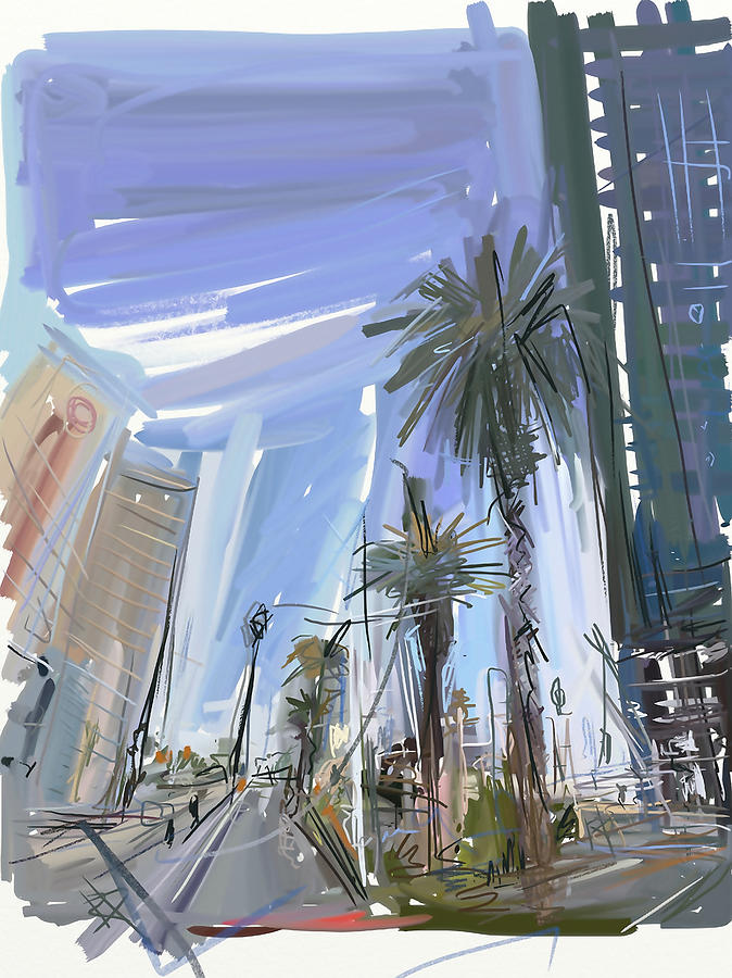 Las Vegas Digital Art - Vegas Baby by Russell Pierce