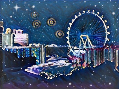 Vegas High Rollin Starry Nite by Karen Buford