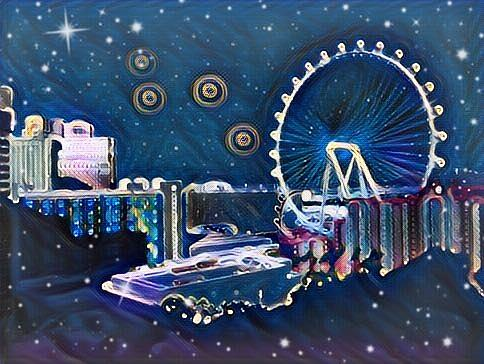 Vegas High Rollin Starry Nite by Karen Buford
