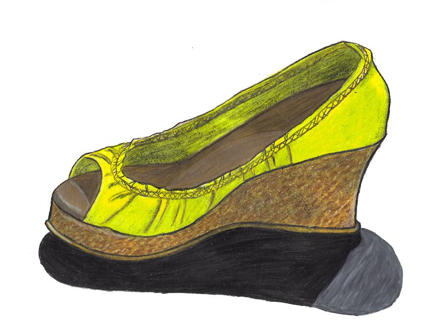 Shoe Drawing - Vegas Shoes by Jean Haynes