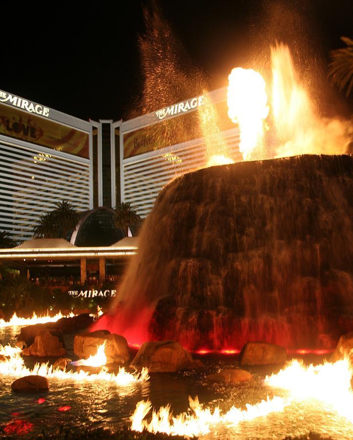 Fire Photograph - Vegas Volcano by Cassandra Wessels