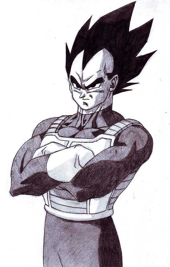 Vegeta Drawing by Venance Motema