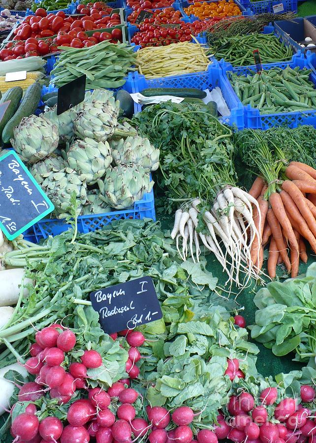 European Markets Photograph - Vegetables At German Market by Carol Groenen