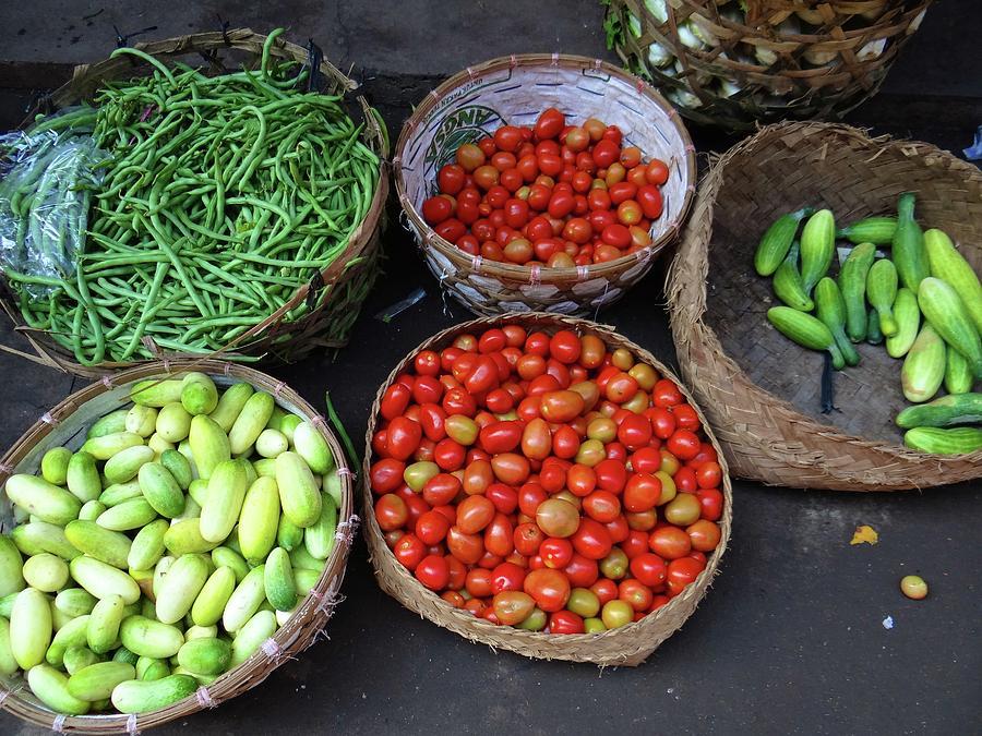 Unschooling Photograph - Vegetables in a basket by Exploramum Exploramum