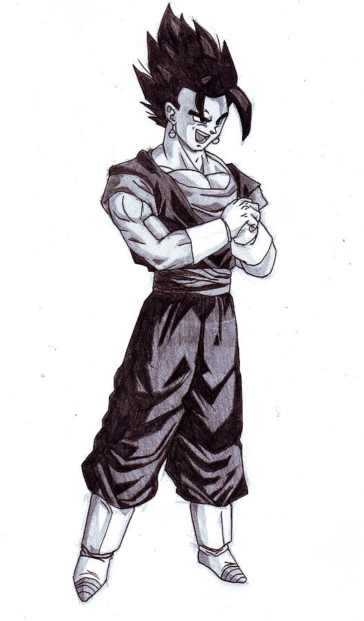 Vegeto Drawing by Venance Motema