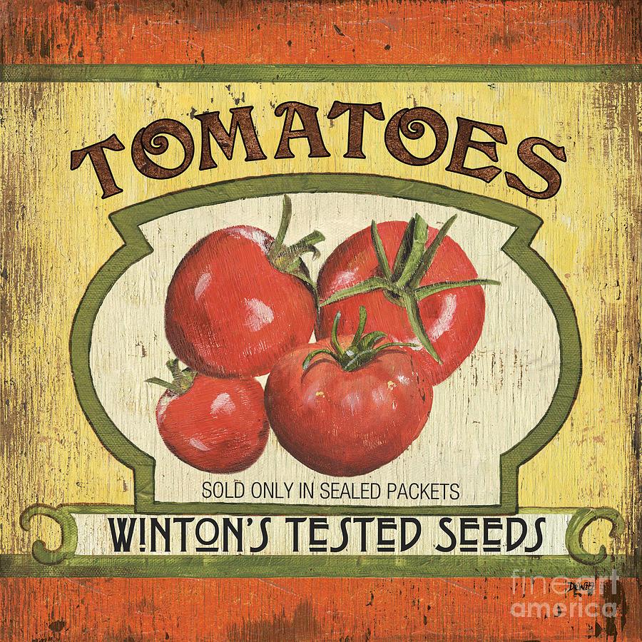 Food Painting - Veggie Seed Pack 3 by Debbie DeWitt
