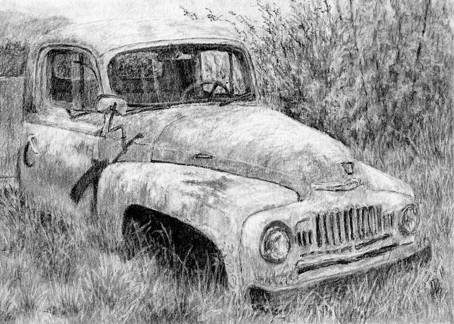 Truck Drawing - Vehicle Study No 1 by David King