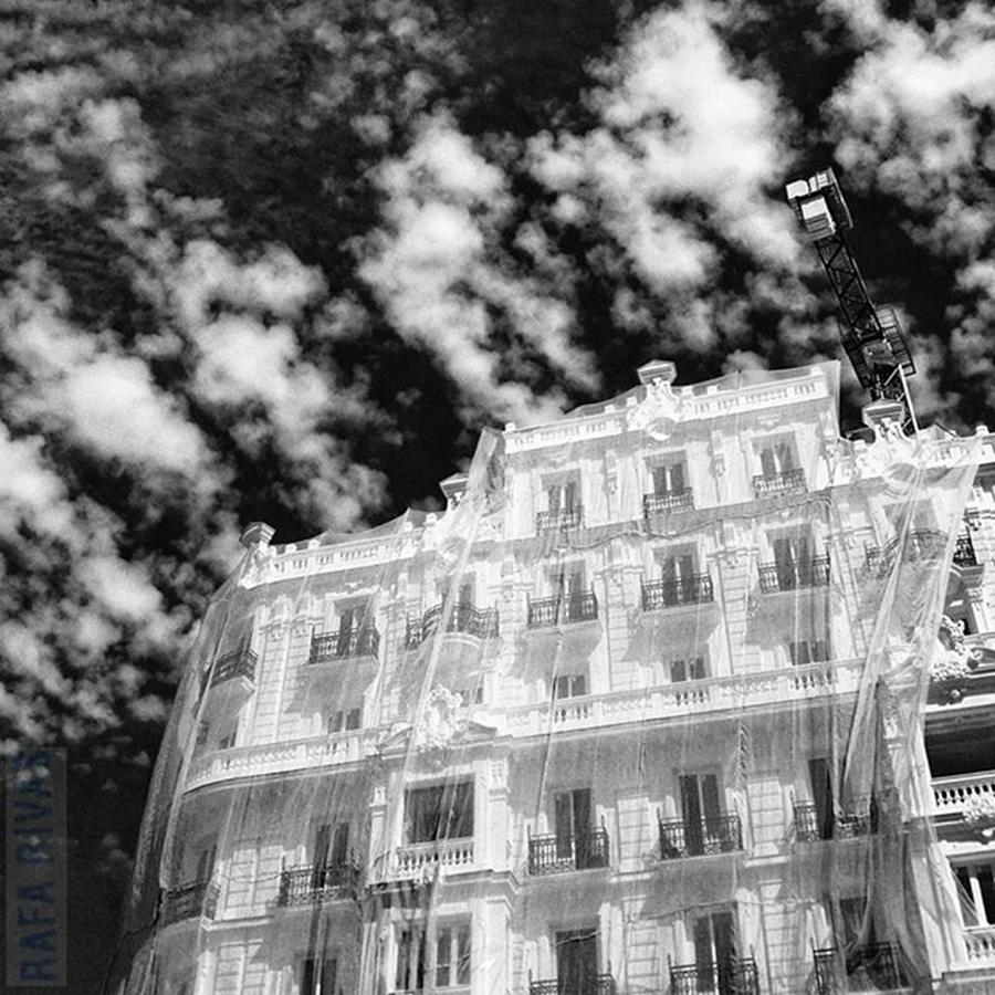 Cityscape Photograph - Veiled Facade  #sky #clouds by Rafa Rivas