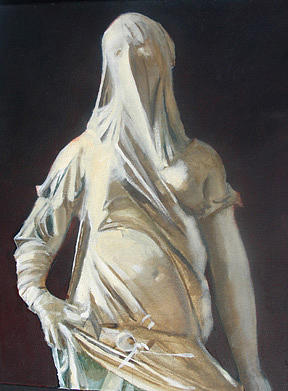 Veiled Figure After Corradini Painting by Carlos Sanjurjo