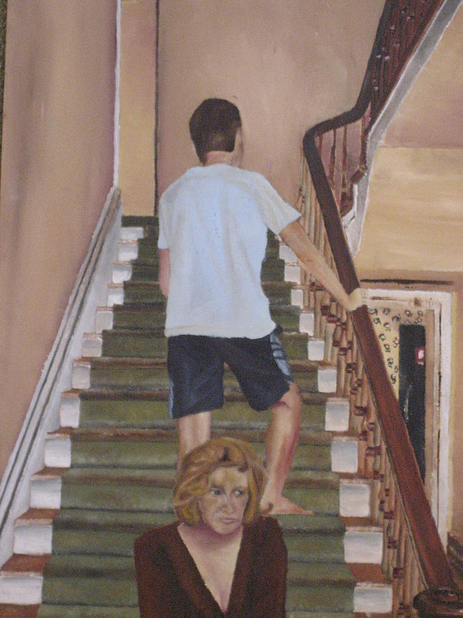 Stairs Painting - Velocity by Olivia  Whitby