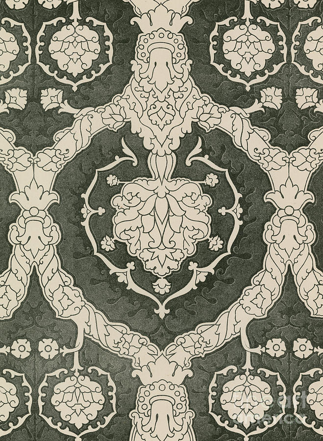 16th Century Drawing - Velvet Hangings, 16th Century by English School