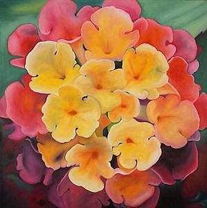 Flower Painting - Velvety Lanterna by Marian Gliese