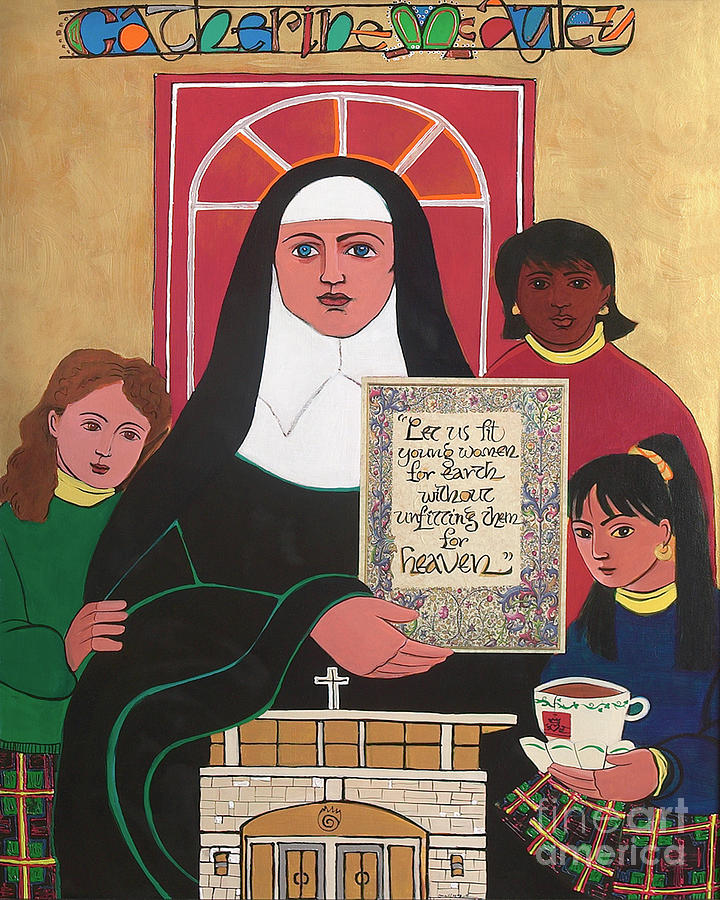 Martyrs Painting - Ven. Catherine Mcauley - Mmvcm by Br Mickey McGrath OSFS
