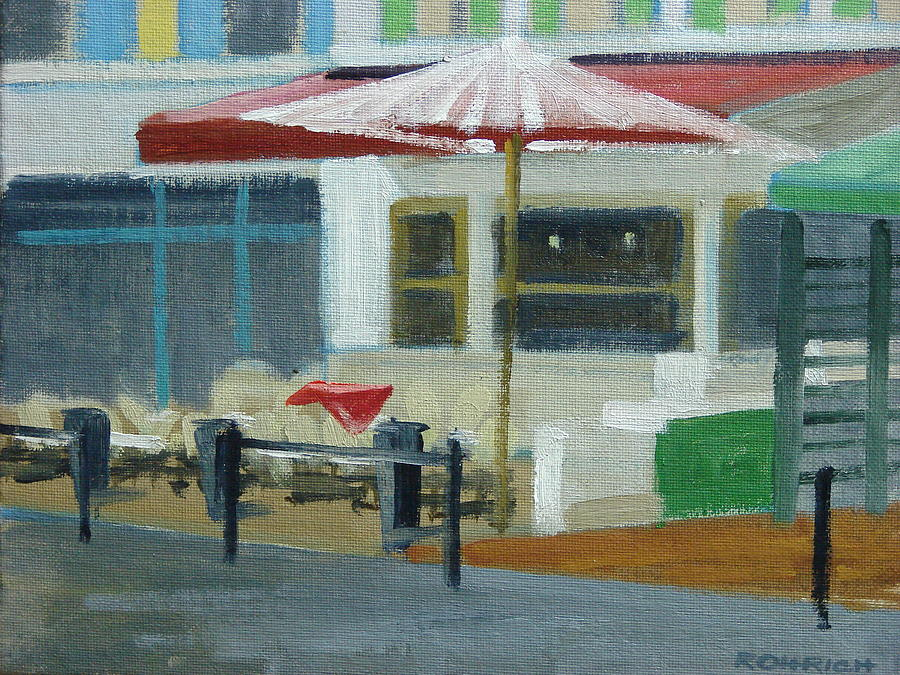 Outdoor Cafe Painting - Vence Restaurant by Robert Rohrich