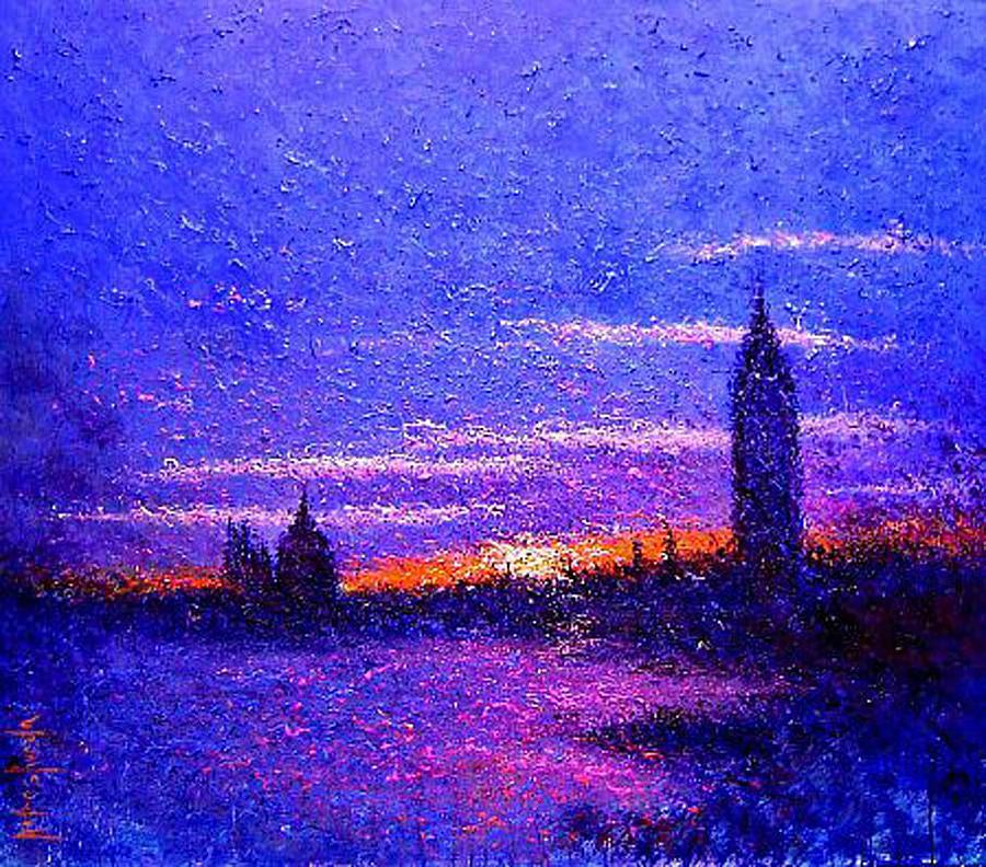 Cityscape Painting - Venecia En Rosas by Andres Rueda