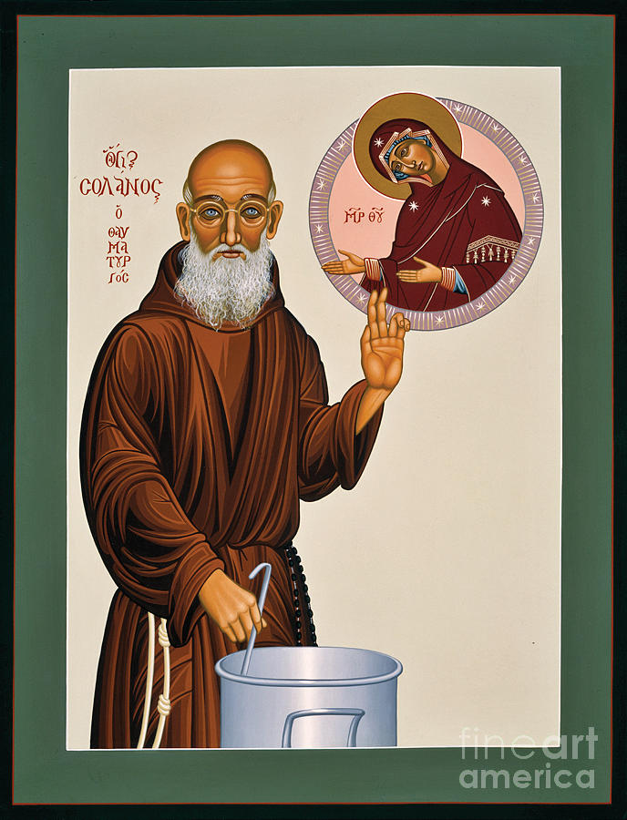 Iconography Painting - Venerable Fr. Solanus Casey The Healer 038 by William Hart McNichols