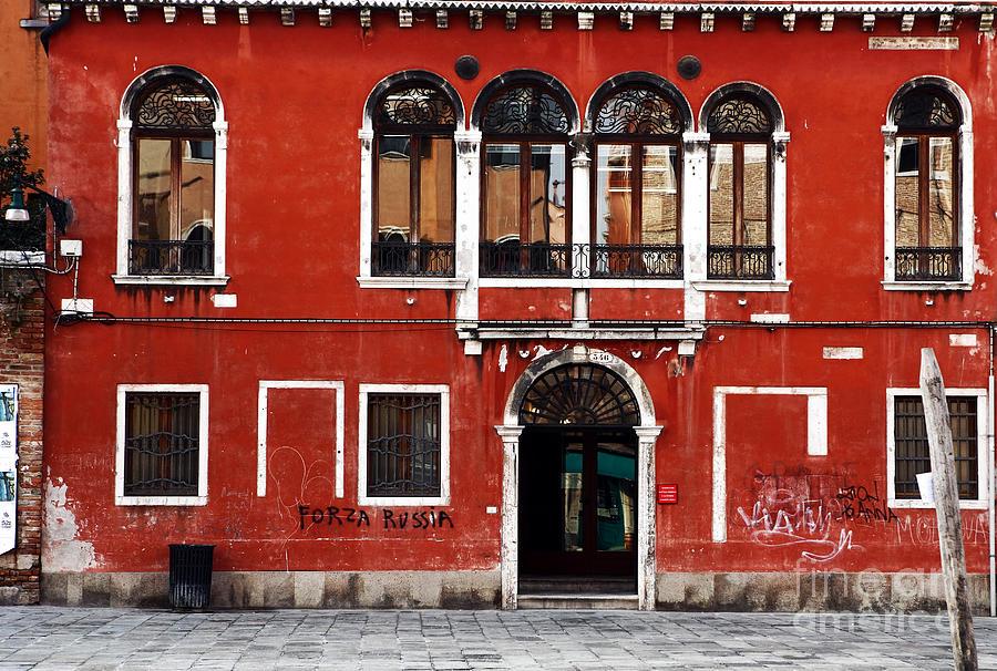 Door Photograph - Venetian Architecture by John Rizzuto