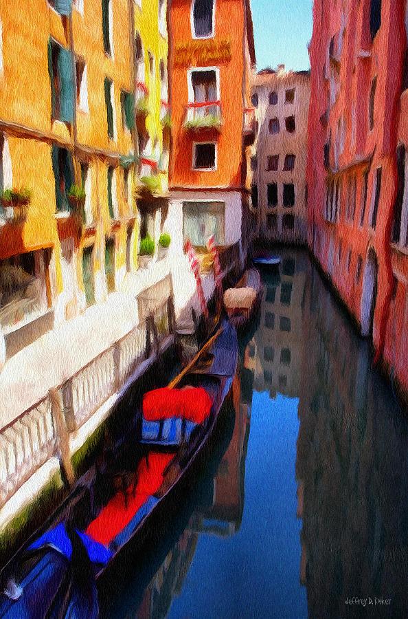 Venice Painting - Venetian Canal by Jeffrey Kolker