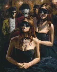 Venetian Courtesans Painting by Fabian Perez