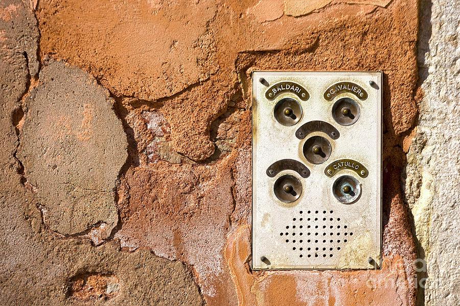 Heiko Photograph - Venetian Door Bell by Heiko Koehrer-Wagner