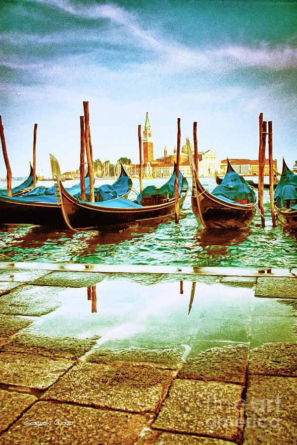 Venetian Gondolas - Gold Edition by Gordon Wood
