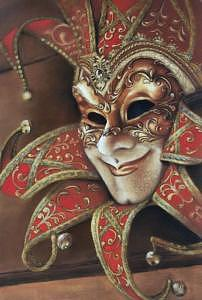 Venetian Mask Painting - Venetian Mask II by Rose Baggs