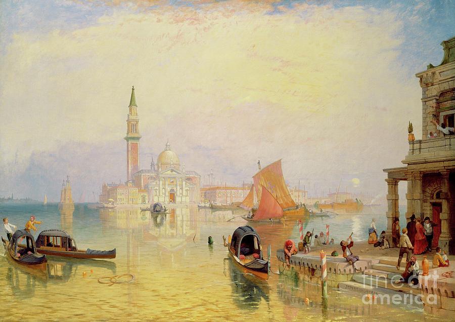 Venetian Scene Painting - Venetian Scene, 19th Century by James Baker Pyne