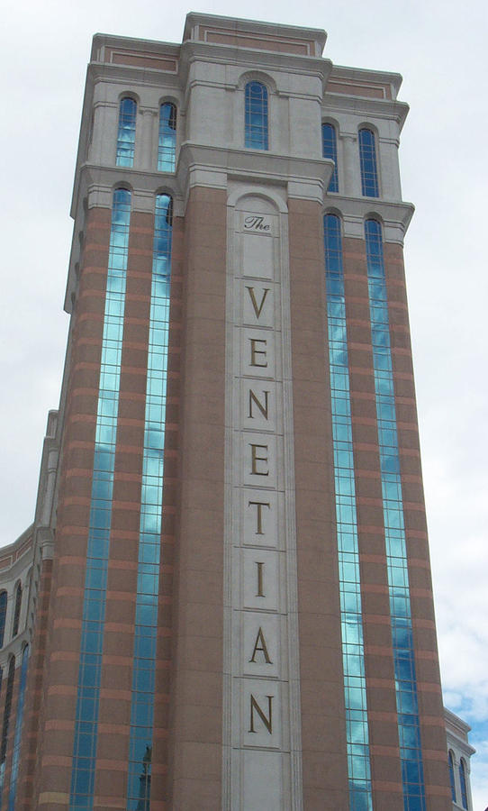 Venetian Photograph - Venetian Tower Las Vegas by Alan Espasandin
